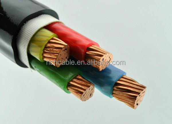 electric cable steel wire armoured copper conductor PVC insulated electric power cable