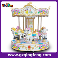 Qingfeng attraction equipment rides carousel horse ride gyroscope 6 sets