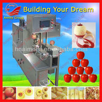 stainless steel full- automatic apple peeling machine(coring&slicing)/86-15838028622