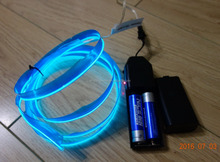 "AAX2PCS Battery Clothing fabrics decorate""Polar light 2""2.3mm Single welt Blue EL WIRE"