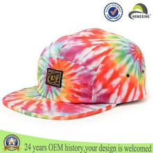 custom blank tie dyed 5 panel hats wholesale sublimation 5 panel cap