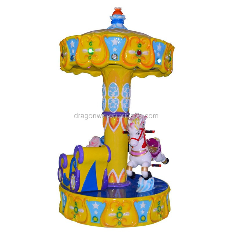 Top popular Angel kids musical small carousel for sale