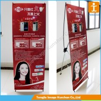 Large promotional aluminum x stand banner for advertising