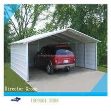 cheap light steel frame prefabricated metal garden/car shed made in china