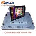 Wintouch gaming monitor, pot o gold WMS game board monitor with metal bezel ,GAMING, SLOT machine, kiosk , vending