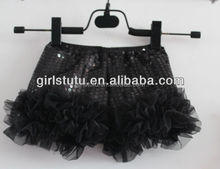 Wholesale baby sequin shorts boutique diaper covers for cute baby girls summer shorts