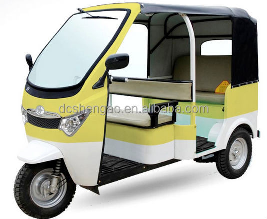 Closed Cabin E Auto Rickshaw/tuktuk/China newest bajaj passenger tricycle for sale