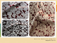 Polyester Flocked Textile Fabric Upholstery Fabric Sofa Cloth and home textiles