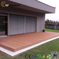 Shipping container platform decorative floor