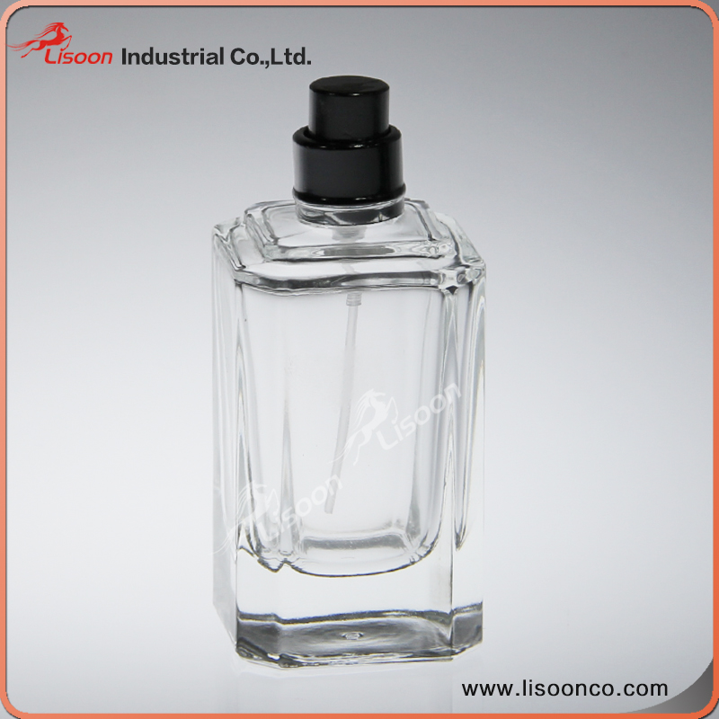 Top Quality 50 ML Cube Shape Crystal Perfume Bottle With Pump Spray