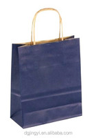 Eco friendly wholesale folding paper shopping bag custom made various colors