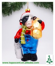 hot hanging blown glass animated indoor christmas decorations wholesales from direct factory