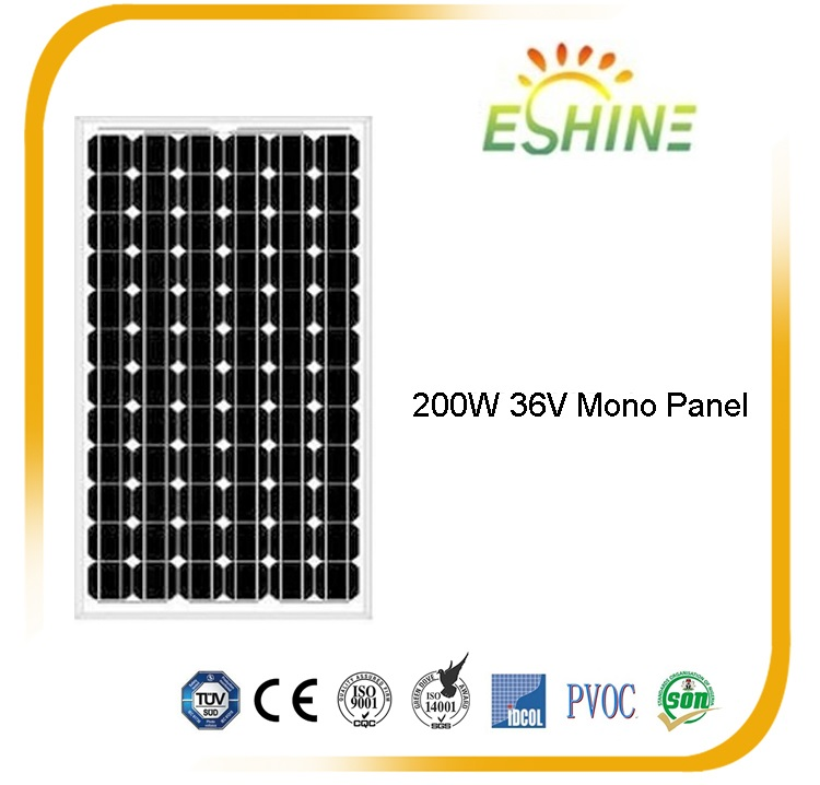 High Efficiency 300w pv poly solar panel 200w mono solar panel price