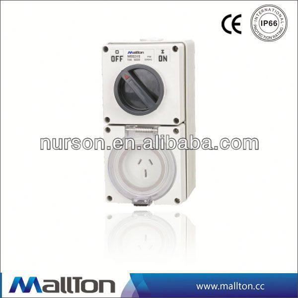 CE certificate electric wall switch with socket outlet