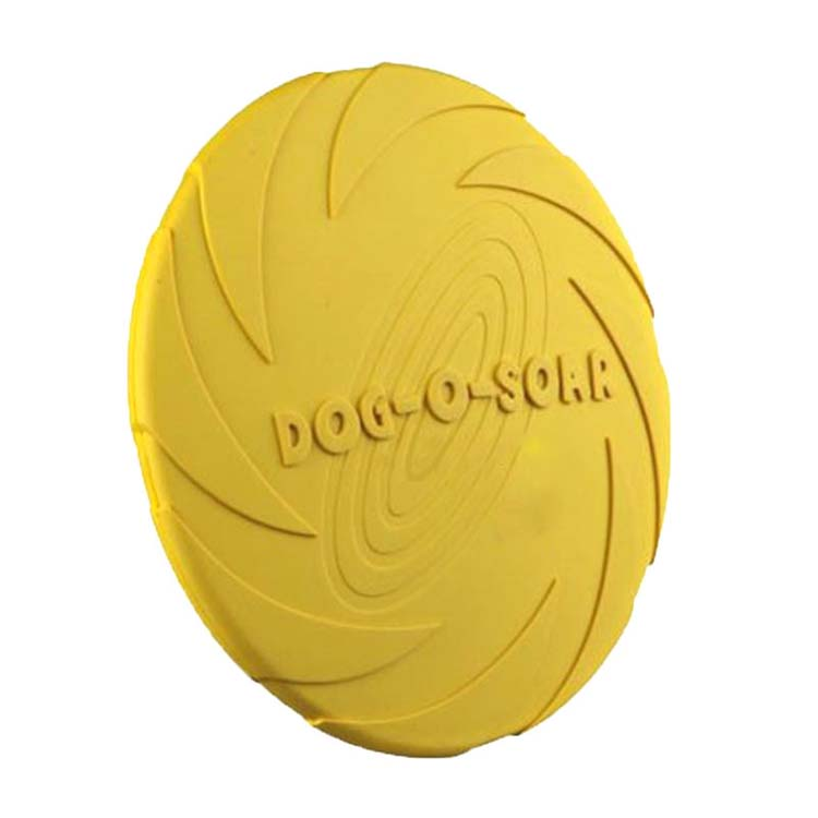 High quality natural rubber pet dog frisbee flying disc training toy
