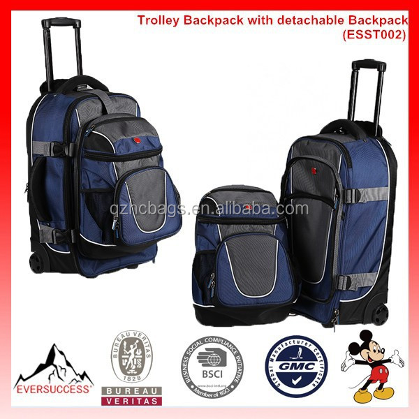 Hot Sale Rolling Backpack Trolley Backpack with detachable Backpack (ESST002)