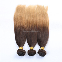 Thick ends silky straight two tone ombre color hair 8A low price indian human hair wefts