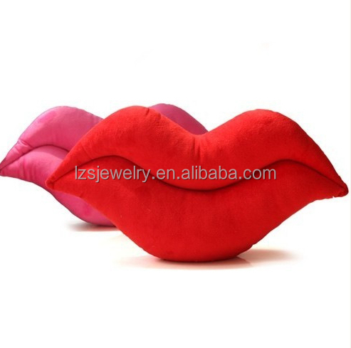 Hot Lips Shaped Pillow Sofa Pillow Funny Shaped Pillow