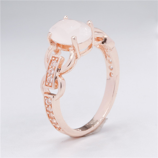 Wholesale New Design Fashion Jewellery Rose Gold Zircon Ring For Girls