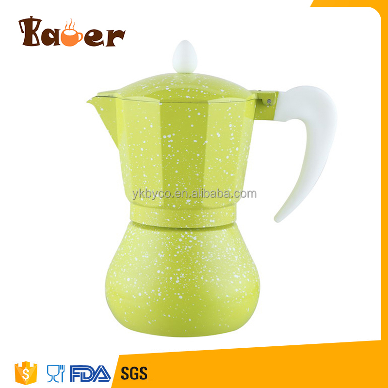 Factory Customized Customized Aluminium Colorful No Plastic Coffee Maker