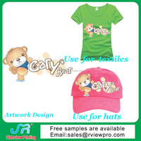 garment printing with cute picture with lovely carton design