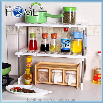 New Style PP Stainless Steel Pipe Hard Flexible Storage Rack Shelf