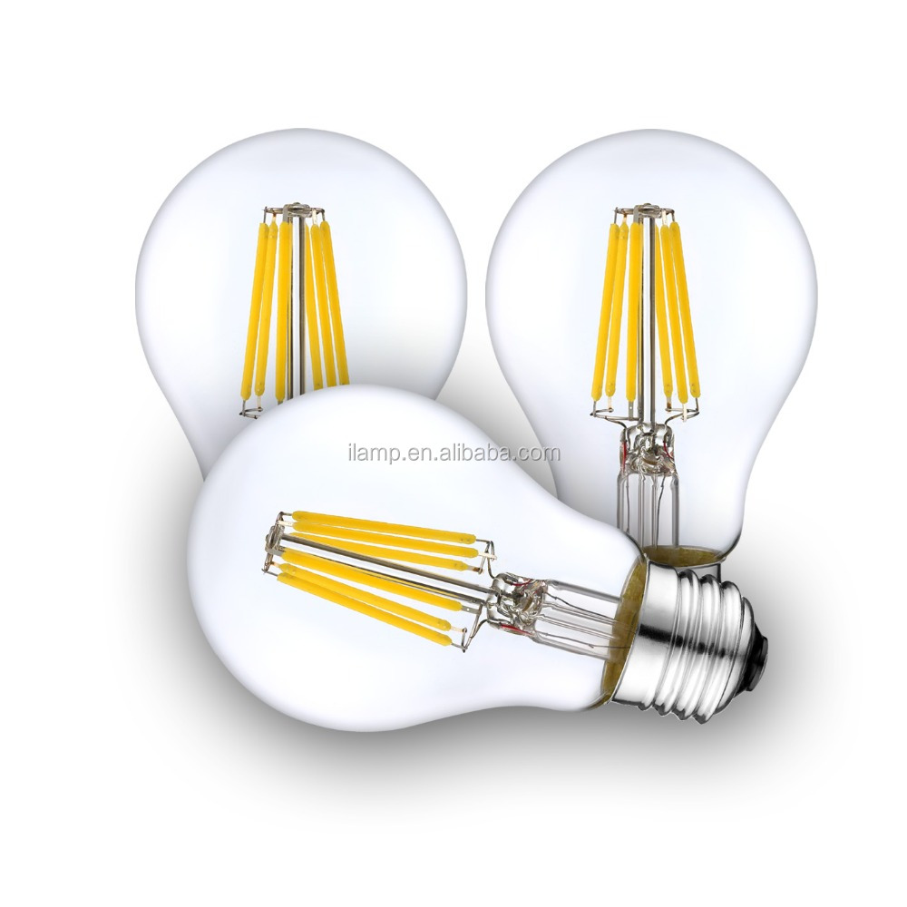 A60 E27 Dimmable 6 Watt LED Filament Light Bulb 60w Incandescent Replacement