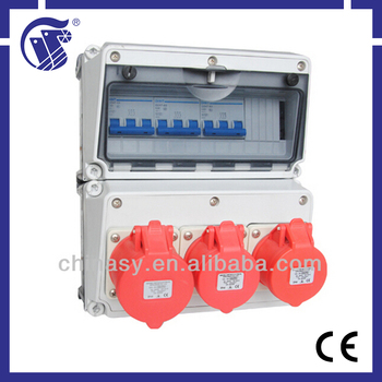 Plastic Power industrial socket box