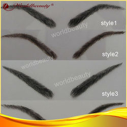 human hair eyebrow, different style, factory supply. stocks available
