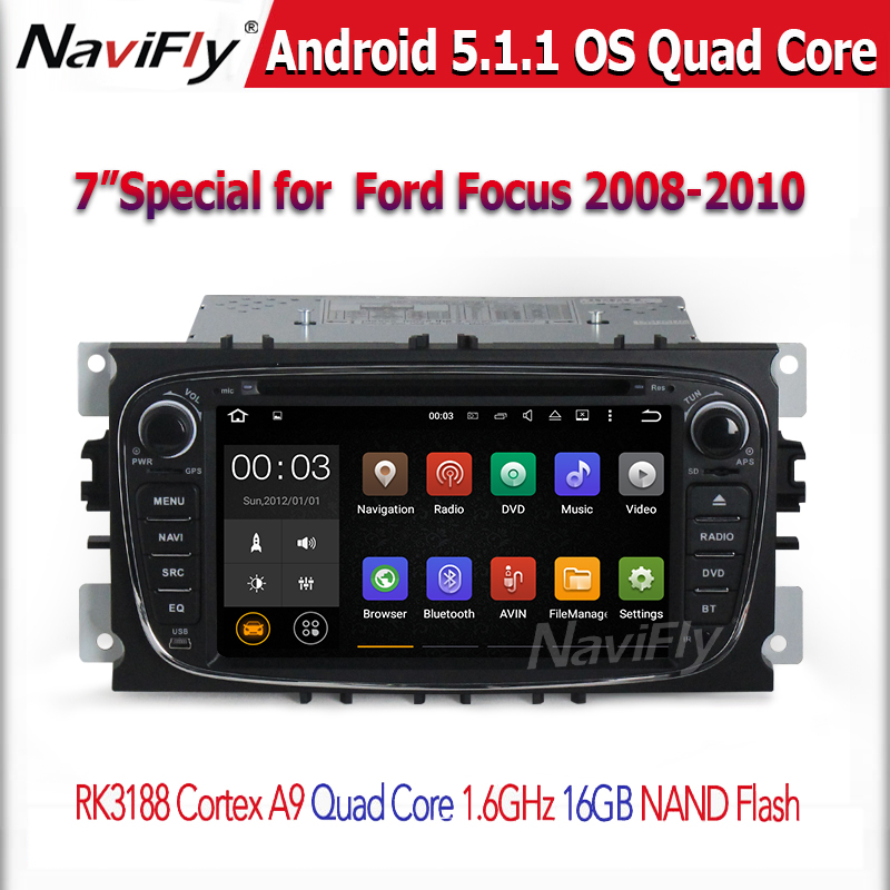 2016 USB/SD/WiFi/ 1024*600 Capacitive Touch Screen Car DVD with Navigation for F-o-c-u-s (2008-2010)