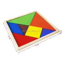 Educational MDF Color Wood Tangram Master Puzzle Children Play Game