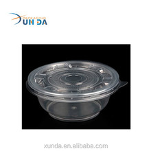 Eco-friendly disposable plastic bento & take away soup bowl V36 customized food grade
