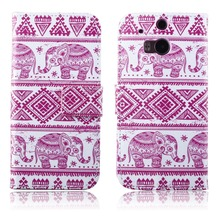 For HTC One M8 case Beautiful Cute Print PU Leather Wallet Case with Photo Frame Card cover Customize Mobile Phone case