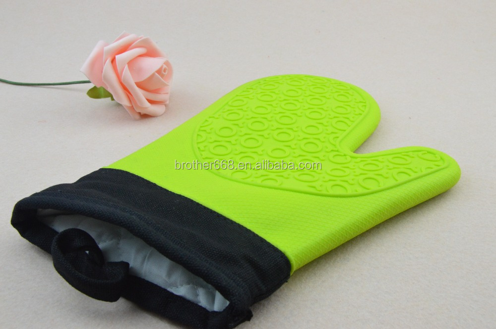 Wholesale high quality Silicone Cooking Gloves Heat Resistant Oven Mitts