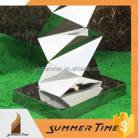 garden decoration sculpture silver color