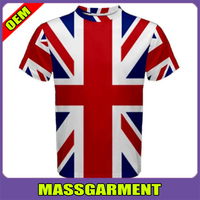 Sublimation uk flag slim fit blank t shirt wholesale