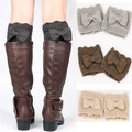 2017 Handmade Crochet Bowknot Boot cuffs Leg Warmers Boot Cuffs