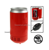 USB PC Cans Style Mini Fridge Beverage Drink Cooler / Warmer, Size: 20.5 x 10.2 x 10.2cm(Red)