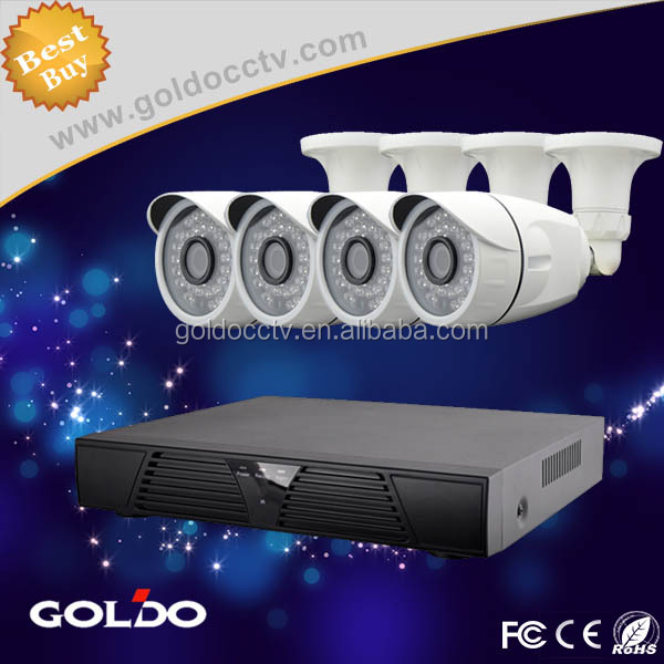 Goldo 4CH AHD DVR CCTV System 4PCS 720P 1200TVL IR Outdoor P2P Camera Video Surveillance Security System 4 Channel DVR Kit