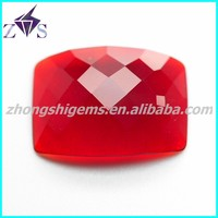 Checkerboard Cut Fancy Shape Cubic Zirconia Gemstone made in China