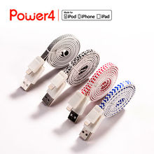 Hot selling for iphone5 flat cable,promotion cable for iphone5 with MFi license, Apple's Authorized Manufacturer