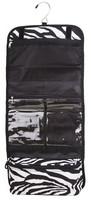 Foldable Zebra Make-up Hang Bag Travel Cosmetic Organizer Bag Travel Makeup Bag