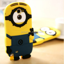 For samsung galaxy NOTE3 minions case,3d silicone despicable me case for samsung galaxy note3