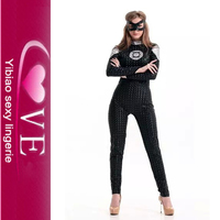 2015 Best Selling Sexy Tight Leather Catsuit Wholesale Classy And Sexy Costume New Arrival Sexy Leather Cat Women Costume