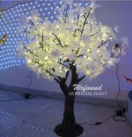 WEFOUND Hot sale 1.5m maple leaf christmas tree with led lights