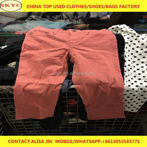 China exported to Africa buyers stock lot used clothes women summer used pants for sale
