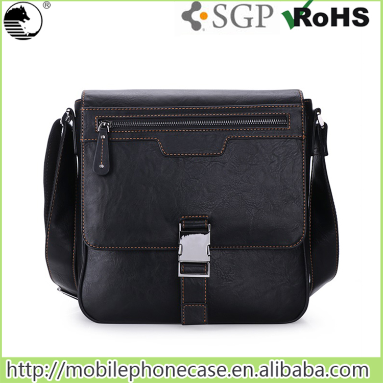 fashion men leather shoulder bag