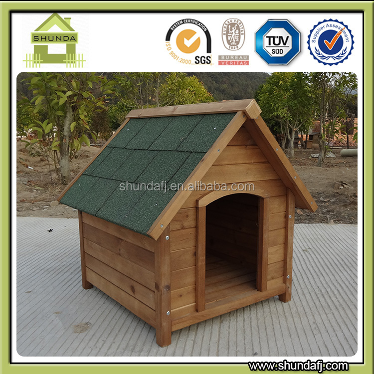 SDD04 Hot selling Apex roof decorative cheap Wooden Dog house