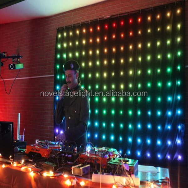 HI-COOL walmart christmas lights sound control back stage light led video curtain P18