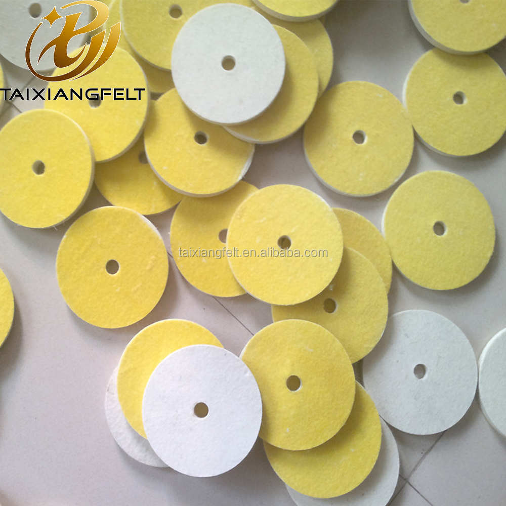 Soft Felt polishing disc for glass, plastic, metal and stone